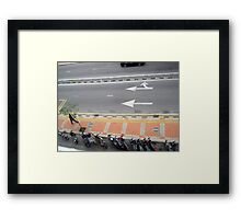 Man Walking over Pavement - Sui Sui Framed Print