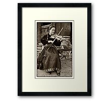 Hardanger fiddle player Framed Print