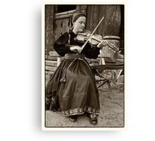 Hardanger fiddle player Canvas Print