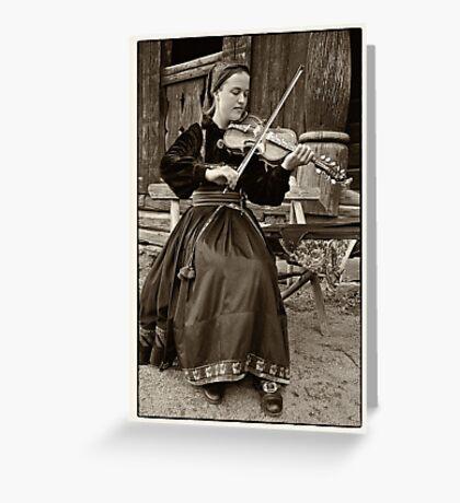 Hardanger fiddle player Greeting Card