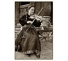Hardanger fiddle player Photographic Print