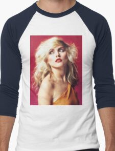 Debbie Harry, Red Men's Baseball ¾ T-Shirt