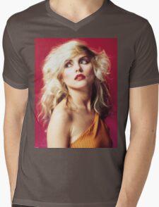 Debbie Harry, Red Mens V-Neck T-Shirt