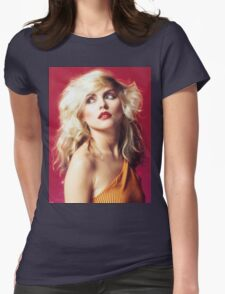 Debbie Harry, Red Womens Fitted T-Shirt