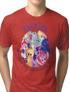 Bronies, classic logo Tri-blend T-Shirt