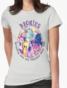 Bronies, classic logo Womens Fitted T-Shirt