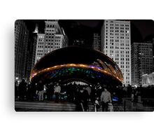 Cloud Gate Sculpture Side Canvas Print