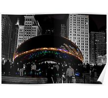 Cloud Gate Sculpture Side Poster