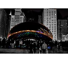 Cloud Gate Sculpture Side Photographic Print