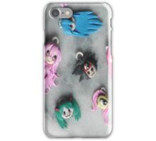 Polymer Clay Anime Faces iPhone Case/Skin