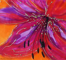Lily on silk by © Pauline Wherrell