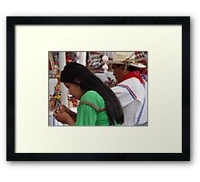 The True Humans III - Los Seres Humanos Verdaderos Framed Print