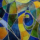 Watercolor Pen and Ink Abstract by martaharvey