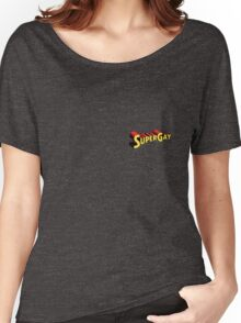 SuperGay Badge Women's Relaxed Fit T-Shirt