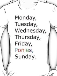 Saturday Ponies T-Shirt