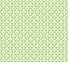 New year green tree pattern  by Ederella