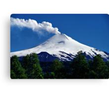 Smoking Volcano Villarrica, Chile Canvas Print