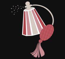 Pretty pink perfume atomizer bottle t-shirt by BigMRanch