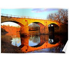 West Tees Railway Bridge over the River Tees. North East England Poster