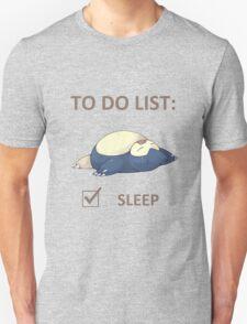 to do list _snorlax T-Shirt