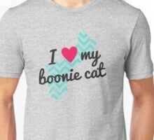 I Love My Boonie Cat (Blue) Unisex T-Shirt