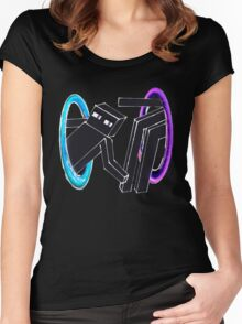 Enderman Portal Women's Fitted Scoop T-Shirt