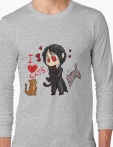 Black Butler - I love cats Long Sleeve T-Shirt