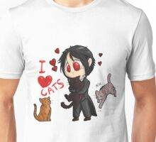 Black Butler - I love cats Unisex T-Shirt