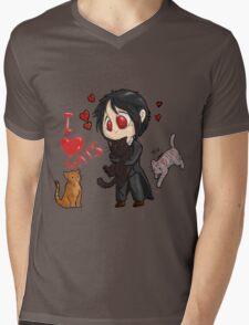 Black Butler - I love cats Mens V-Neck T-Shirt