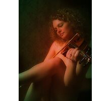 The Cry of a Lonely Heart Echoes From the Strings Photographic Print