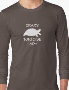 Crazy Tortoise Lady (White) Long Sleeve T-Shirt