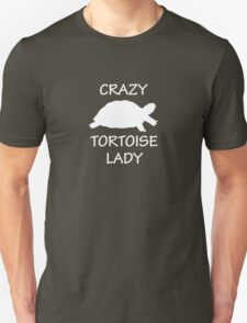 Crazy Tortoise Lady (White) Unisex T-Shirt