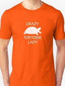 Crazy Tortoise Lady (White) Unisex T-Shirt
