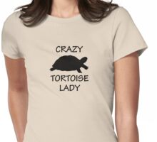 Crazy Tortoise Lady Womens Fitted T-Shirt