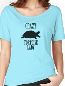 Crazy Tortoise Lady (Black) Women's Relaxed Fit T-Shirt