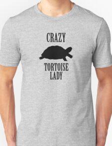 Crazy Tortoise Lady (Black) Unisex T-Shirt