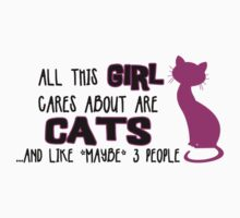 All this GIRL cares about are CATS ...and *maybe* like 3 people Kids Clothes