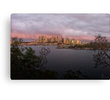Sydney Sunset 02 16-07-09 Canvas Print