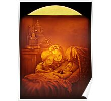 moon lit picture Poster
