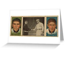 Benjamin K Edwards Collection John J Murray Fred Snodgrass New York Giants baseball card portrait Greeting Card