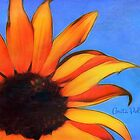 Painted Sunflower with Bee by Anita  Pollak