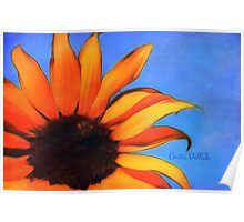 Painted Sunflower with Bee Poster