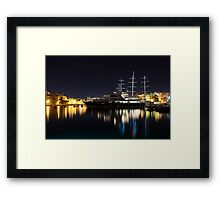 Reflecting on Malta - Luxury Superyachts in Valletta Framed Print