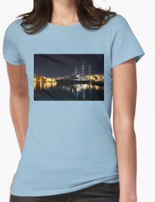 Reflecting on Malta - Luxury Superyachts in Valletta Womens Fitted T-Shirt
