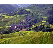 A Yao Village in Longsheng, China Photographic Print