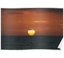 South Australian Summer Sunset 2012 Poster