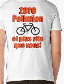 Zero Pollution (Fr) Mens V-Neck T-Shirt