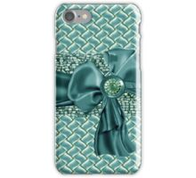 Faux Weaved Beaded Bow & Rhinestone Iphone case iPhone Case/Skin