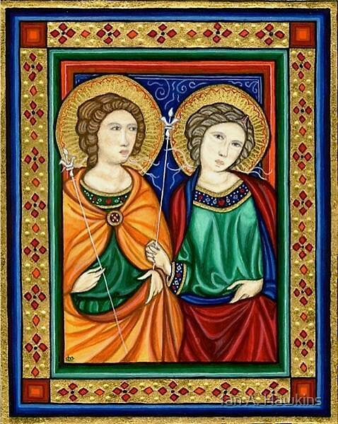 Two Saints by Dominique Oberhauser by Ian A. Hawkins