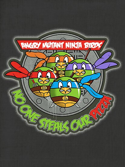 Angry Mutant Ninja Birds by weRsNs